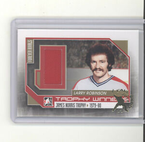 Larry Robinson jersey card 2012 ITG Rivals 1/1 Fall Expo NM Montreal Canadiens
