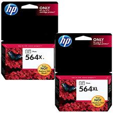 2 Pack Genuine HP 564XL Photo Black Ink For Photo Smart D5463 D5468 D7500 D7560