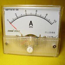 Current Panel Meter 10 Amp Analog Direct Display Solar Battery 12V 24V DC 10A 85