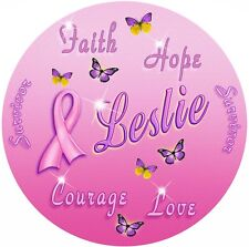 Breast Cancer Survivor Butterflies Round Mouse Pad Personalize Gifts Ladies Pink