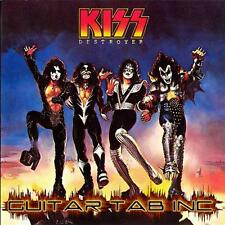 Kiss Digital Guitar Tab DESTROYER Lessons on Disc Ace Frehley Paul Stanley