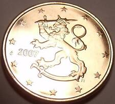 AWESOME FINLAND 2007 5-EURO CENTS~STANDING LION~FREE SH
