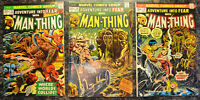 ADVENTURE INTO FEAR (3-Book) LOT #13, 16, 18 (1973 | Marvel Comics) Man-Thing