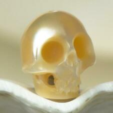 10.50 mm Human Skull Bead Carving Natural Cream Freshwater Pearl 1.00 g drilled