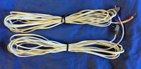 Bose White RCA Wires/Cable for Acoustimass Home Theater Speaker 6, 10+ 20 ft x2