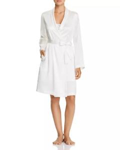 LA PERLA Silk Short Wrap Robe:  White: New with Tags