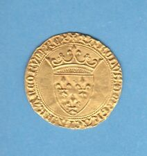 (MD.08) CHARLES VI ECU D'OR A LA COURONNE 1ère EMISSION (11/03/1385) SPL VARIETE