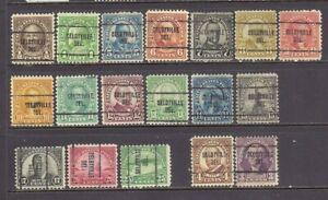 DELAWARE Precancels: Big Set of 1920's/30's Definitives - Selbyville 704