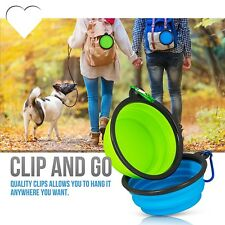 BPA Outdoor Home Silicone Pet Dog Water Food Feeding Bowl Foldable Dish Feeder