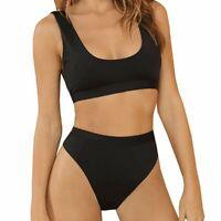 Women Padded Bra Bikini Set Swimsuit Bandage Push-up Triangle Swimwear Bathing
