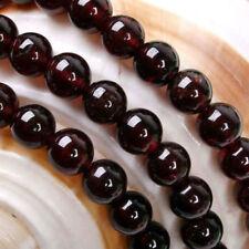 diy natural 8 mm Sri Lanka Red Garnet Round Gemstone Loose Beads