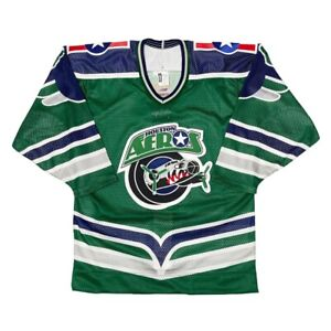 Vtg Rare NWT IHL Houston Aeros Green Authentic Bauer Hockey Jersey Size 44
