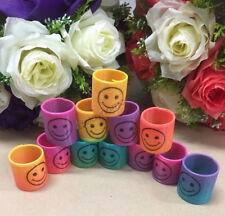 36x Mini Magic Spring Rainbow Slinky Plastic Kids Birthday Party Favours Smiley