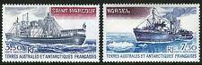 FSAT TAAF C62-C63, MNH. Supply ship Saint Marcouf, Icebreaker Norsel, 1980