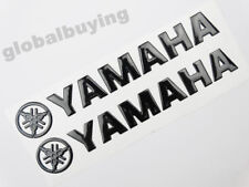14.5CM Black 3D Fuel Tank Fairing Fender Fork Emblem Decal Sticker For Yamaha