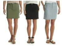 LEE RIDERS WOMEN'S UTILITY SKORT SKIRT BUILT IN SHORTS CASUAL AND COMFY_NL1