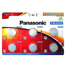 6 Panasonic CR2032 Lithium Coin Cell 2032 3V Battery Car Key Fobs Toys Remote
