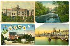 Russian Imperial Latvian Town View Riga Set of 4 PCs