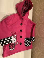 NEW Western Chief Toddler Girl's Size 2T Hello Kitty Rain Coat Pink