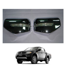 Wing Side Mirror Cover Chrome + LED 2 Pc Fits Mitsubishi L200 Triton 2006 - 2014