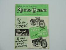 Vintage Dec 1956 Motorcycling Magazine Royal Enfield 250 350 Clipper L8176