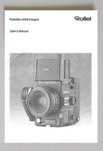 Rolleiflex 6008 Integral User's Manual Instruction Manual photocopy