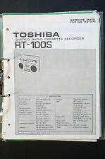 TOSHIBA rt-100s ORIGINAL MANUAL DE SERVICIO/MANUAL/ESQUEMA conexiones