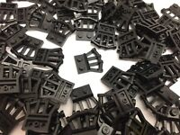 LEGO 92692 - Black Modified Plates With Angled Handles / 10 Pieces Per Order