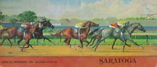 A RARE RACE HORSE RACING PROGRAM SCHUYLERVILLE SARATOGA RACETRACK NEW YORK