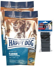 2x12,5kg Happy Dog  Sensible Karibik + 80 Stk.Kotbeutel ***TOP PREIS***