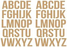 Vinyl Alphabet Stickers 35mm, A-Z 2 Sets Self Adhesive Multiple Colours FREE P&P