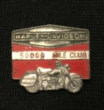 Rare Vintage 1960's Genuine HARLEY-DAVIDSON 50,000 Mile Club PIN, Leavens MFG.