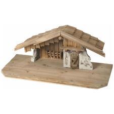 S002 Stall Kötzting Holz, 65x29x27 cm, Krippenstall, Weihnachtskrippe Deko Neu