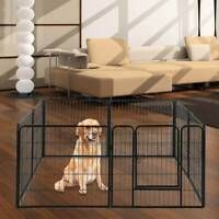 8 Panel Heavy Dog Cage Foldable Metal Puppy Exercise Playpen Pet Fence Run UK