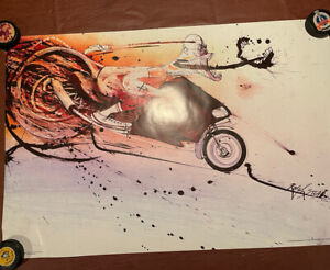 Hunter S. Thompson Fear and Loathing Ralph Steadman 36x24 Poster Hunter Ducati