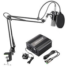 Neewer NW-700 Condenser Microphone Kit with Black Mic Arm Stand and Pop Filter