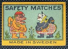 Matchbox label Safety Matches Made in Sweden ML017