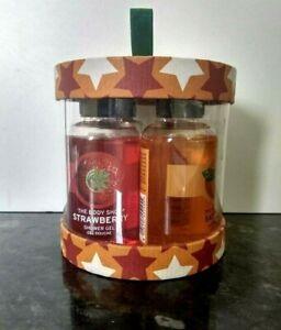 The Body Shop Shower Gel Gift Set - Strawberry, Satsuma, Green Tea & Moringa