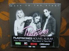 CD DIGIPACK PLASTICINES - Back To The Start / Because Music BEC5161813(2014)NEUF