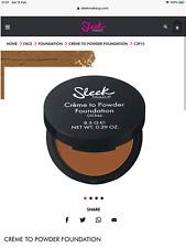 Sleek Make Up Creme to Powder Foundation Oil Free c2p15 1093, New RRP £8.99.