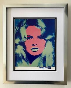 ANDY WARHOL + RARE 1984 SIGNED BRIGITTE BARDOT PRINT MATTED TO BE FRAMED 11X14
