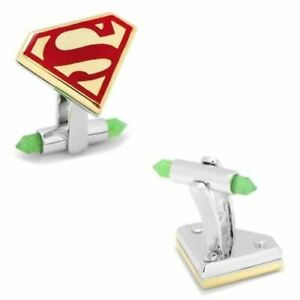 Luxe Superman Cufflinks with 18k Gold