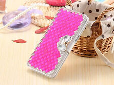 Women Lady Wallet Bling Crystal Diamond Leather Flip Case Cover For Samsung S002