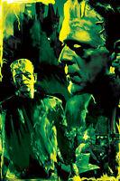 "Boris Karloff Frankenstein ""The Creature Lives"" 11 x 17 High Quality Poster"