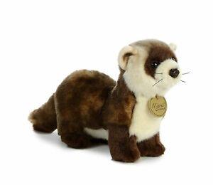 "10.5"" Small Black Footed Ferret Aurora Plush Miyoni Stuffed Animal"