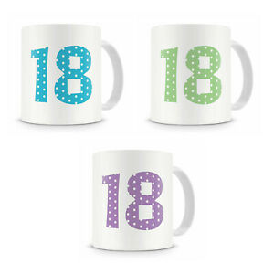 18th Eighteenth Birthday Mug Present Gift For Him Her Brother Sister Cousin Etc
