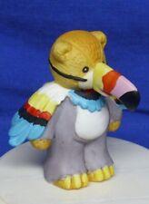 "Enesco Lucy & Me Figurine Teddy Bear as Toucan 1990 Lucy Rigg 2-5/8"" High"