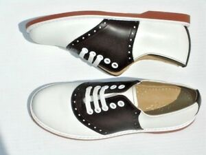 Classic BROWN and White Saddle Shoes leather wms sz 5.5-11 (#251)