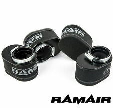 RAMAIR Motorcycle Oval Pod Air Filter Kit 43mm Neck
