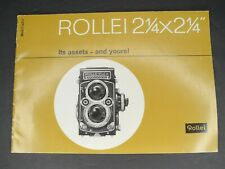 """Rollei 2 1/4"""" x 2 1/4"""" Its Assets And Yours! 1963 Brochure"""